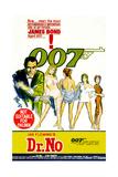 Dr. No, Sean Connery 1962 Giclee Print