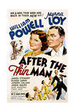 After the Thin Man, Asta, Myrna Loy, William Powell, 1936 Giclee Print