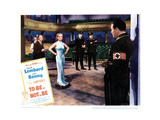 To Be or Not to Be, from Left: Charles Halton, Carole Lombard, Jack Benny, 1942 Giclee Print