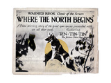 Where the North Begins, Rin Tin Tin, 1923 Giclee Print