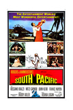 South Pacific, Top from Left: Rossano Brazzi, Mitzi Gaynor (And Sailor Suit Center), 1958 Giclee Print