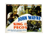 King of the Pecos, John Wayne, 1936 Giclee Print