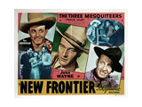 The New Frontier, from Left, Ray Corrigan, John Wayne, Raymond Hatton, 1935 Giclee Print