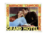 Grand Hotel, from Left, Greta Garbo, John Barrymore, 1932 Giclee Print
