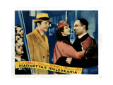 Manhattan Melodrama, from Left, William Powell, Myrna Loy, Leo Carrillo, 1934 Giclee Print