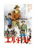 El Dorado, L-R: James Caan, John Wayne, Robert Mitchum on Japanese Poster Art, 1966 Giclee Print