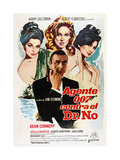 Dr. No, Sean Connery, 1962 Giclée-tryk
