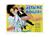 Swing Time, from Left, Ginger Rogers, Fred Astaire, 1936 Giclee Print