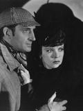 The Adventures of Sherlock Holmes, from Left: Basil Rathbone, Ida Lupino, 1939 Foto