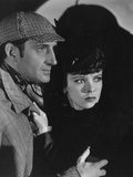 The Adventures of Sherlock Holmes, from Left: Basil Rathbone, Ida Lupino, 1939 Photo