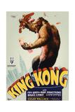 King Kong, King Kong on Poster Art, 1933 Giclée-tryk