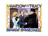 Bombshell, (AKA Blonde Bombshell), from Left, Jean Harlow, Frank Morgan, Ted Healy, 1933 Giclee Print