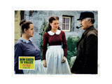 How Green Was My Valley, from Left, Sara Allgood, Maureen O'Hara, Donald Crisp, 1941 Giclée-tryk