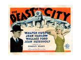 The Beast of the City, from Left, Walter Huston, Jean Harlow, 1932 Giclee Print