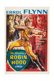 The Adventures of Robin Hood, from Left: Olivia De Havilland, Errol Flynn, Basil Rathbone, 1938 Giclee Print