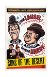 Sons of the Desert, Bottom from Left: Oliver Hardy, Stan Laurel, 1933 Giclee Print
