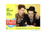 The Lost Weekend, from Left, Doris Dowling, Ray Milland, 1945 Giclee Print