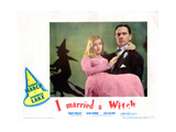 I Married a Witch, from Left: Veronica Lake, Fredric March, 1942 Giclee Print
