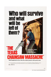 The Texas Chainsaw Massacre, from Left: Gunnar Hansen, Teri Mcminn, 1974 Giclee Print