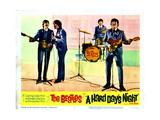 A Hard Days Night, Paul Mccartney, George Harrison, Ringo Starr, John Lennon, 1964 Giclée-Druck
