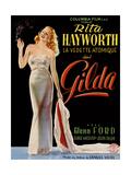 Gilda, Belgian Poster, Rita Hayworth, 1946 Giclée-tryk