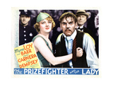 The Prizefighter and the Lady, from Left, Myrna Loy, Walter Huston, 1933 Giclee Print