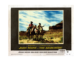 The Searchers, from Left, John Wayne, Jeffrey Hunter, 1956 Giclee Print