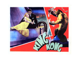 King Kong, from Left, Fay Wray, Bruce Cabot, 1933 Giclee Print