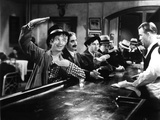 Horse Feathers, Harpo Marx, Groucho Marx, Chico Marx, Vince Barnett, 1932, Ordering at the Bar Photo