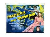 Frankenstein Meets the Wolf Man, Ilona Massey, Maria Ouspenskaya, 1943 Giclée-tryk