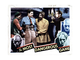 The Most Dangerous Game, from Left, Oscar Hendrian, Joel Mccrea, Noble Johnson, Leslie Banks, 1932 Giclee Print