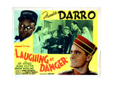 Laughing at Danger, Left and Right, Mantan Moreland, Frankie Darro, 1940 Giclee Print