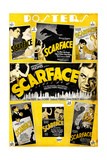 Scarface, Paul Muni, Various Poster Selections, 1932 Giclee Print