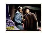 Sherlock Holmes and the Secret Weapon, from Left, Basil Rathbone, Nigel Bruce, 1943 Giclee Print
