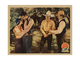The Range Feud, from Left, Susan Fleming, John Wayne, Buck Jones, William Walling, 1931 Giclee Print
