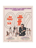 Dr. No, 1962; Double Bill, to Russia with Love, 1963 Giclée-tryk