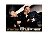 Goldfinger, from Left, Gert Frobe, Sean Connery, 1964 Giclee Print