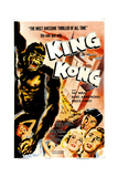 King Kong, Re-Release Poster, 1933 Giclee Print