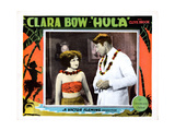 Hula, from Left: Clara Bow, Clive Brook, 1927 Giclée-tryk