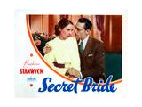 The Secret Bride, from Left, Barbara Stanwyck, Warren William, 1934 Giclee Print