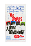 A Hard Day's Night, the Beatles, Paul Mccartney, John Lennon, George Harrison, Ringo Starr, 1964 Giclée-tryk