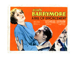 A Bill of Divorcement, from Left, Billie Burke, John Barrymore, Katharine Hepburn, 1932 Giclee Print