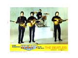 Help, from Left:Paul Mccartney, George Harrison, Ringo Starr, John Lennon, 1965 Reproduction procédé giclée