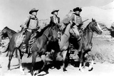 The Searchers, Harry Carey, Jr., Jeffrey Hunter, John Wayne, 1956 Photo