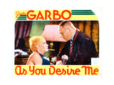As You Desire Me, from Left: Greta Garbo, Erich Von Stroheim, 1932 Giclée-tryk