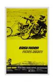 Easy Rider, Top from Left: Jack Nicholson, Dennis Hopper, Bottom: Peter Fonda, 1969 Giclee Print