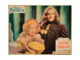 The Scarlet Empress, from Left, Marlene Dietrich, John Lodge, 1934 Giclee Print