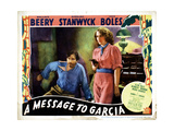 A Message to Garcia, from Left, John Boles, Barbara Stanwyck, 1936 Giclee Print