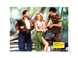Song of the Islands, from Right: Victor Mature, Betty Grable, Jack Oakie, 1942 Giclee Print