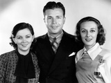 Thanks a Million, from Left: Patsy Kelly, Dick Powell, Ann Dvorak, 1935 Foto